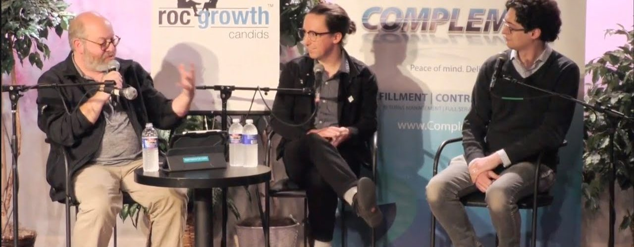 RocGrowth Candids 2018-11-07 • Dan Schneiderman & Robert Mostyn • Innovative Makers & Gamers