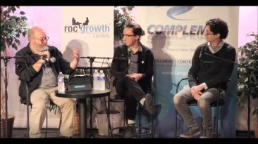 RocGrowth Candids 2018-11-07 • Dan Schneiderman & Robert Mostyn • Innovative Makers & Gamers